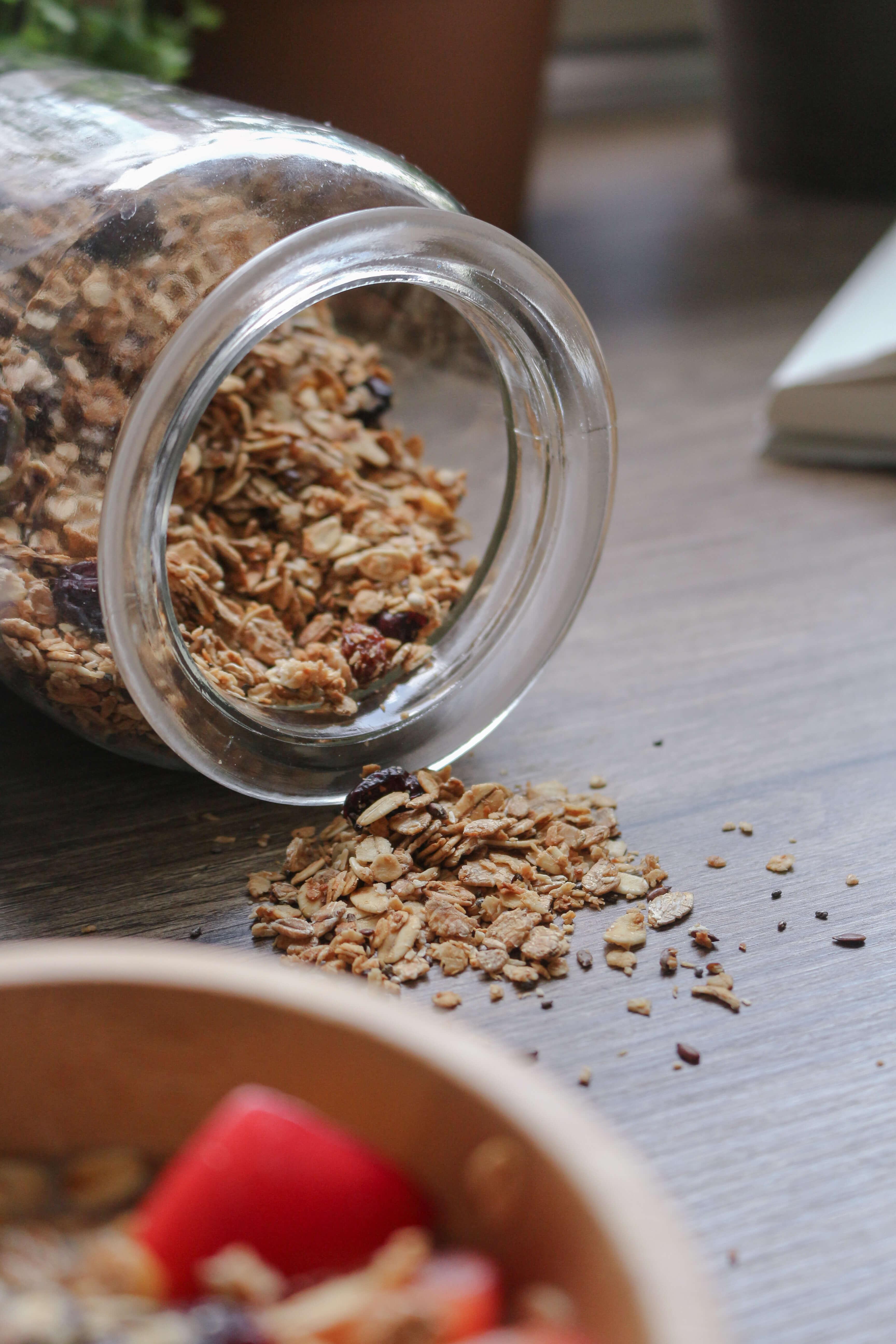 Rezept für veganes Cranberry-Knusper Müsli